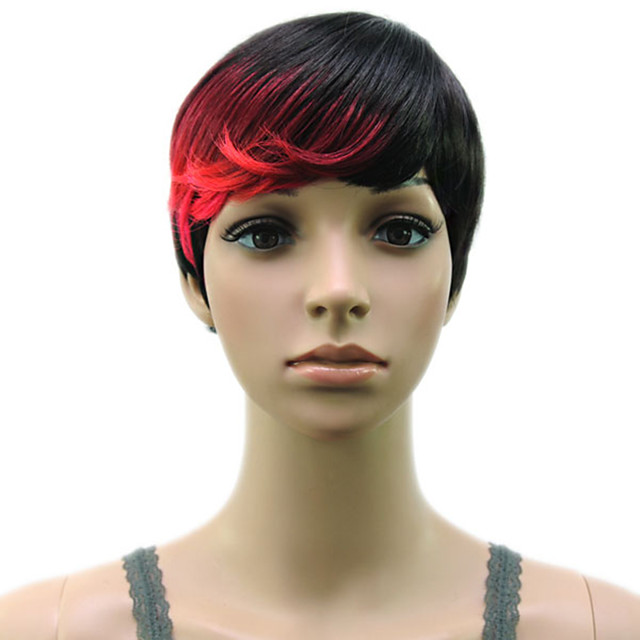 Synthetic Wig Straight Hathaway Halloween Christmas Pixie Cut Wig Short Black / Gold Pink / Purple Golden Brown White Black / Blonde Synthetic Hair 12 inch Women's Women Synthetic Sexy Lady Mixed