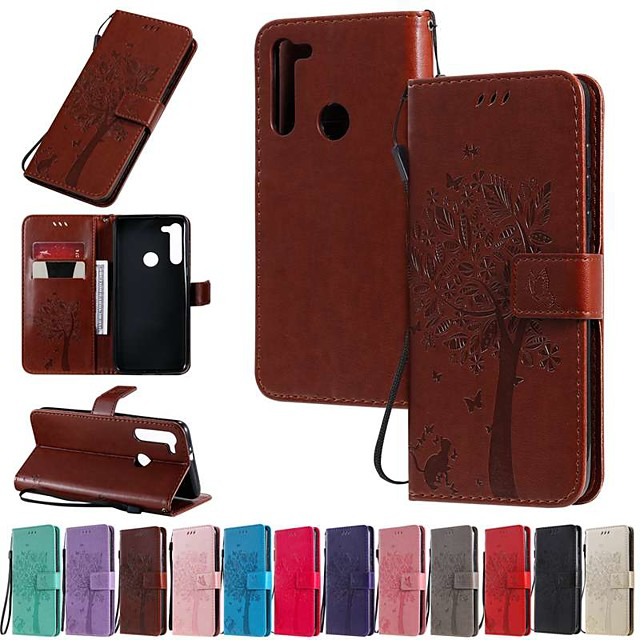 Case For Motorola MOTO E6 / MOTO E6 plus / MOTO G8PLUS Wallet / Card Holder / with Stand Full Body Cases Solid Colored / Tree PU Leather