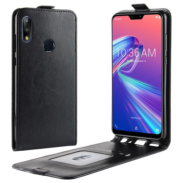 Case For Asus ASUS Zenfone max M1 ZB555KL / ASUS ZenFone Live L1 ZA550KL Card Holder / Shockproof / Flip Full Body Cases Solid Colored PU Leather