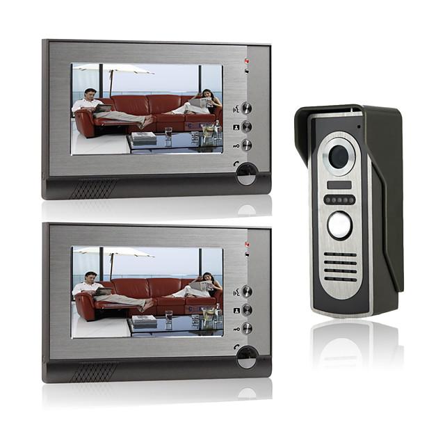 7 Inch Wire Vidoe Door phone Home Security Intercom System Unlock P805M12