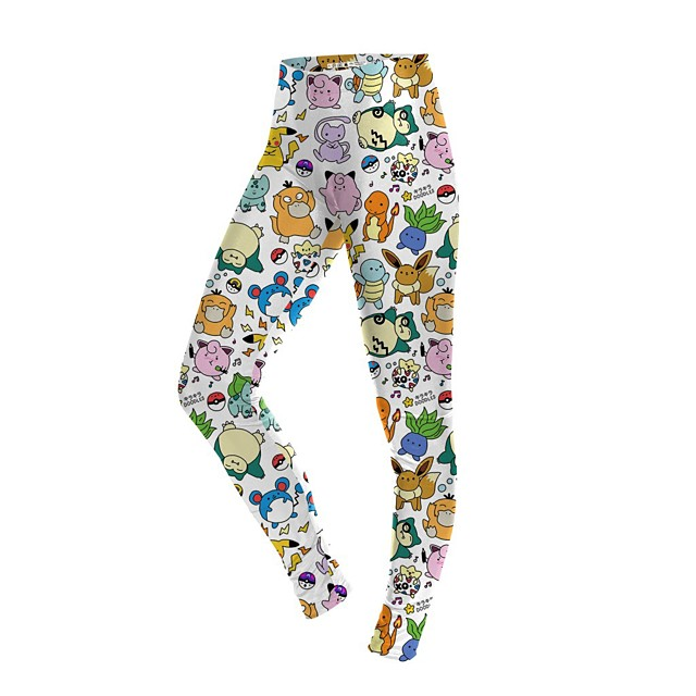 Inspired by Cosplay PIKA PIKA Pants Leggings Polyster Printing Pants For Women's