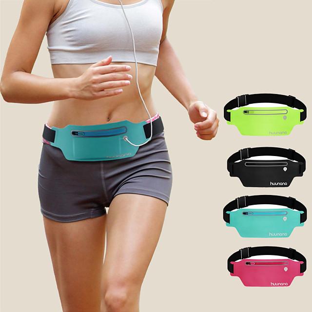 Running Belt Fanny Pack Belt Pouch / Belt Bag for Running Hiking Outdoor Exercise Traveling Sports Bag Reflective Adjustable Waterproof Lycra® Men's Women's Running Bag Adults