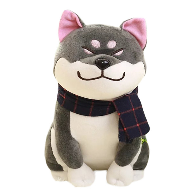 Stuffed Animal Plush Toys Plush Dolls Stuffed Animal Plush Toy Dog Lovely Exquisite Comfy Wear scarf Shiba Inu Imaginative Play, Stocking, Great Birthday Gifts Party Favor Supplies Boys and Girls