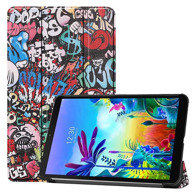Case For LG G Pad 5 10.1 Shockproof / with Stand / Flip Full Body Cases Butterfly / Eiffel Tower / Scenery PU Leather Case For LG G Pad 5 10.1