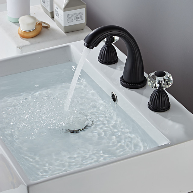 Bathroom Sink Faucet - Widespread Painted Finishes Widespread Two Handles Three HolesBath Taps