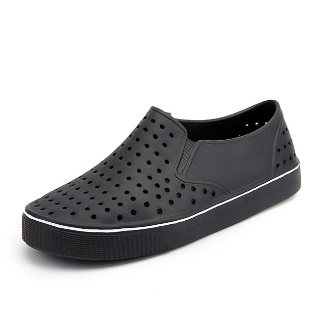 Unisex Sandals Flat Sandals 2020 Flat Heel Round Toe Casual Minimalism Daily Beach EVA(ethylene-vinyl acetate copolymer) Water Shoes Upstream Shoes Summer White / Black / Gray