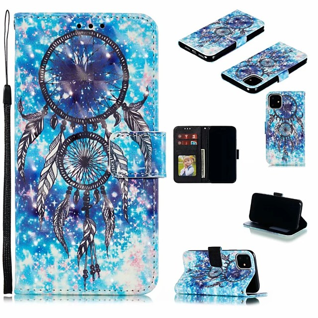 Case For Apple iPhone 11 / iPhone 11 Pro / iPhone 11 Pro Max Card Holder / Shockproof / Dustproof Full Body Cases 3D Cartoon PU Leather / TPU