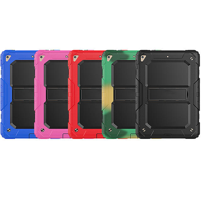 Case For Apple iPad Air / iPad (2018)/2017 / iPad Air 2 Shockproof / with Stand Back Cover Solid Colored Silica Gel / PC