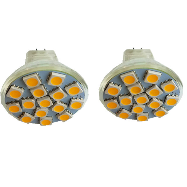 2pcs 3 W LED Spotlight 300 lm MR11 15 LED Beads SMD 5050 Warm White Cold White Natural White 9-30 V