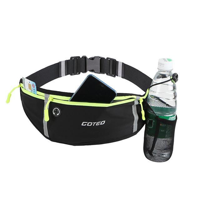 Running Belt Fanny Pack Belt Pouch / Belt Bag for Running Hiking Outdoor Exercise Traveling Sports Bag Adjustable Waterproof Portable Lycra Spandex Men's Women's Running Bag Adults