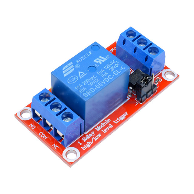 1 Channel Relay Module DC 5V High and Low Level Trigger Relay Control With Optocoupler Red