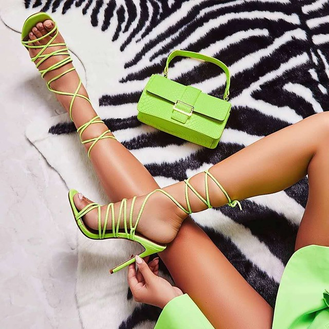 Women's Sandals Summer Stiletto Heel Open Toe Classic Minimalism Daily Party & Evening Solid Colored PU Yellow / Green