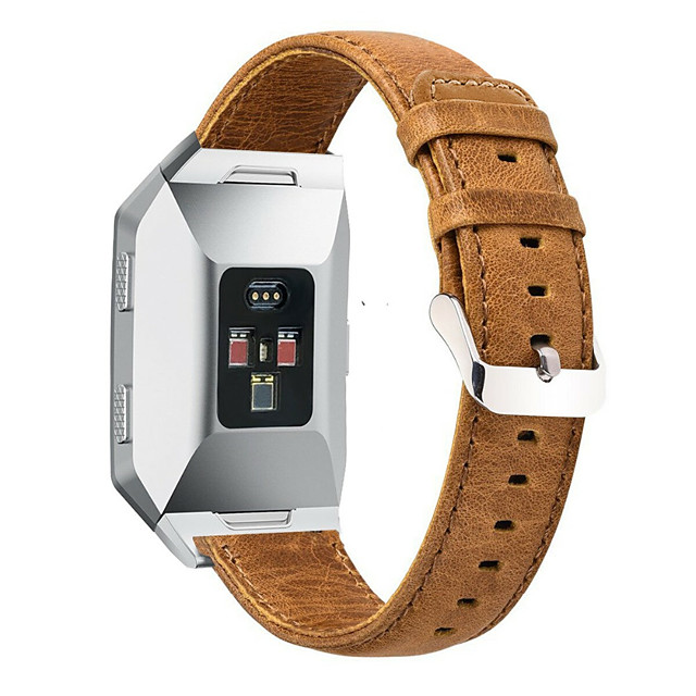 Watch Band for Fitbit ionic Fitbit Modern Buckle Genuine Leather Wrist Strap