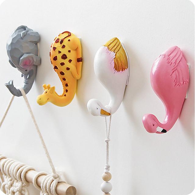 Bathroom Sticker / Hooks Cartoon / Self-adhesive / Adorable Cartoon Other Material 2pcs - tools Toilet Accessories