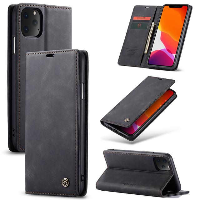 Caseme Retro Business lederen magnetische flip case voor iPhone 11 Pro Max / 11 Pro / 11 / SE2020 / XS Max / XS / XR / X / 8 Plus / 7 Plus / 6 Plus / 8/7/6 met portemonnee kaartsleuf Stand Case Cover