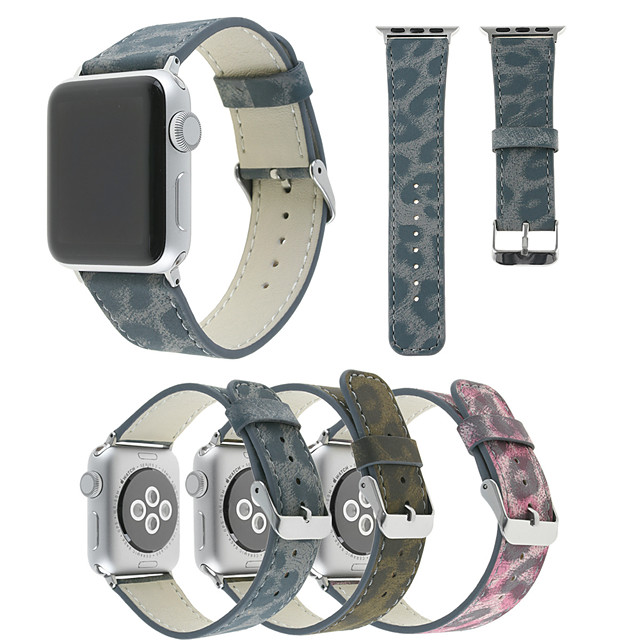 Watch Band for Apple Watch Series 5/4/3/2/1 Apple Leather Loop Quilted PU Leather Wrist Strap