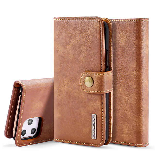 Case For Apple iPhone 11 / iPhone 11 Pro / iPhone 11 Pro Max Card Holder / Flip / Magnetic Full Body Cases Solid Colored PU Leather / Genuine Leather / TPU