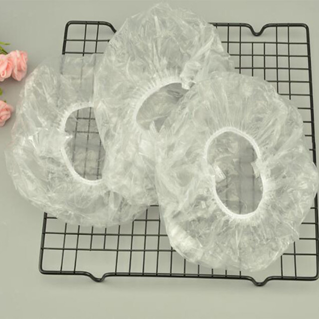 Shower Caps Easy to Use Ordinary Plastic 100pcs Sponges & Scrubbers