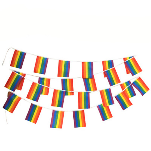 Flag City / Flag Polyester Jacquard For LGBT Pride Cosplay Men Women Costume Jewelry Fashion Jewelry