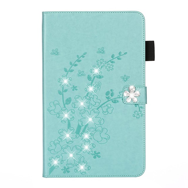 Case For Apple iPad 10.2 /Pro 11 2020/Mini 3/2/1/4/5 Card Holder / Rhinestone / with Stand Full Body Cases Solid Colored / Glitter Shine / Flower PU Leather For iPad New Air 10.5 2019/iPad 4/3/2