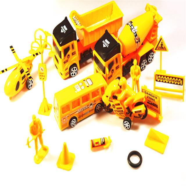 1:25 Plastic Truck Construction Truck Set Asphalt Paver Toy Truck Construction Vehicle Simulation Unisex Kids Car Toys