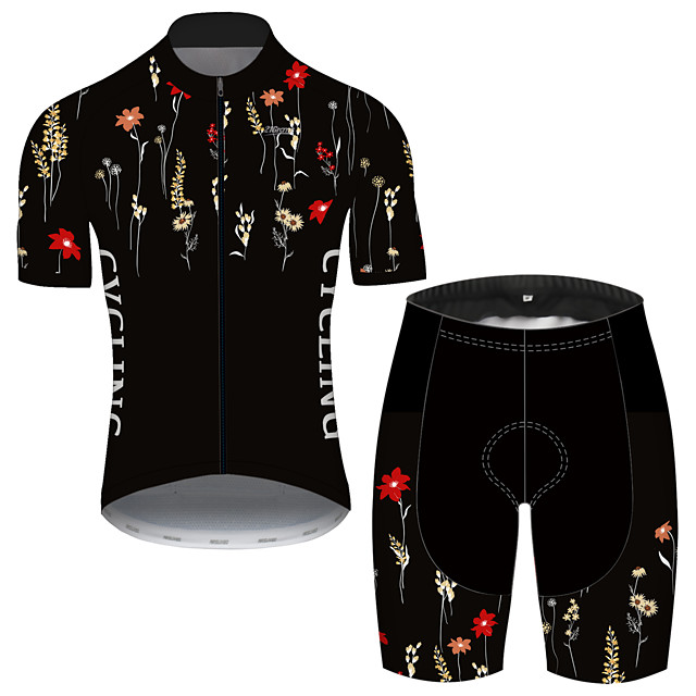 21Grams Men's Short Sleeve Cycling Jersey with Shorts Spandex Polyester Black Oktoberfest Beer Bike Clothing Suit UV Resistant Breathable Quick Dry Sweat-wicking Sports Oktoberfest Beer Mountain Bike