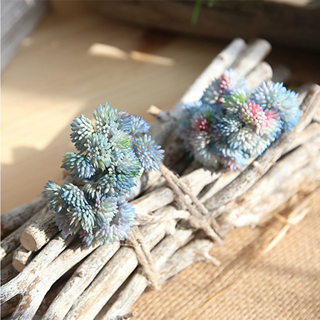 20.5cm Soft Rubber Rice Succulent Succulents Mori Female Handmade Fake Flower 1 stick