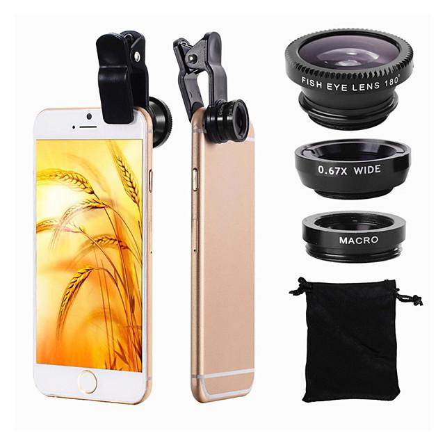 Mobile Phone Lens Fish-Eye Lens / Wide-Angle Lens / Macro Lens Acrylic / Plastic 10X Macro 25 mm 0.02 m 180 ° Cool