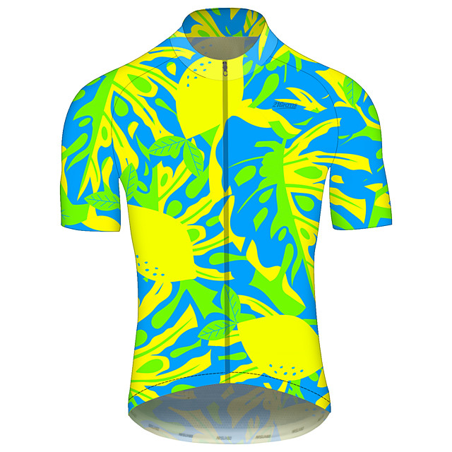 21Grams Men's Women's Short Sleeve Cycling Jersey Spandex Polyester Green Gradient Bike Jersey Top Mountain Bike MTB Road Bike Cycling UV Resistant Breathable Quick Dry Sports Clothing Apparel
