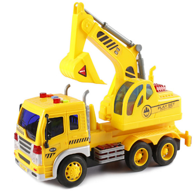 1:16 Plastic Shell Construction Truck Set Crane Excavator Sprinkler Truck Toy Truck Construction Vehicle Simulation Unisex Kids Car Toys