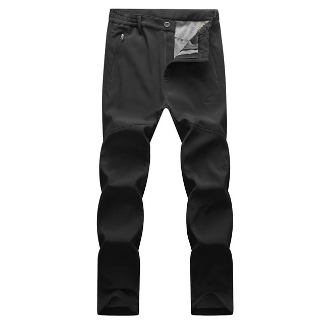 Men's Hiking Pants Hiking Cargo Pants Winter Outdoor Standard Fit Breathable Warm Comfortable Thick Pants / Trousers Bottoms Dark Grey Black Dark Blue Camping / Hiking Hunting Fishing M L XL XXL XXXL