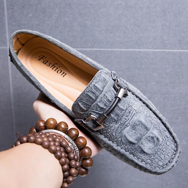 Men's Summer Outdoor Loafers & Slip-Ons PU Black / Khaki / Blue