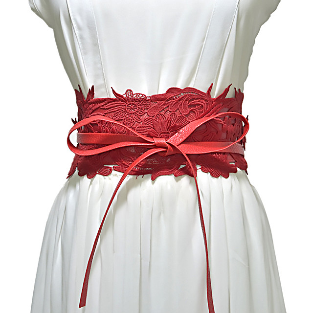 Metalic / Lace Wedding / Party / Evening Sash With Belt Women's Sashes