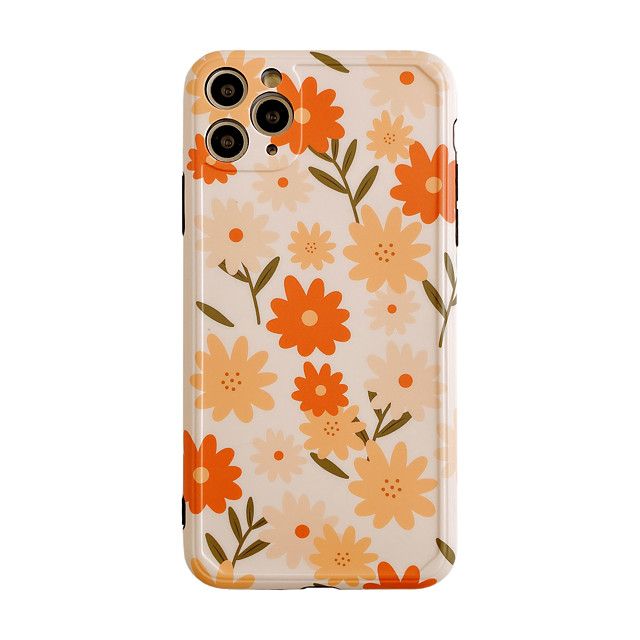 Case For Apple iPhone 11 / iPhone 11 Pro / iPhone 11 Pro Max Shockproof Back Cover Cartoon / Flower PC