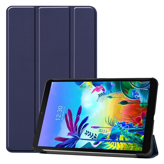 Case For LG G Pad 5 10.1 Shockproof / with Stand / Flip Full Body Cases Solid Colored PU Leather Case For LG G Pad 5 10.1
