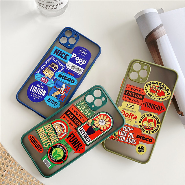 Case For Apple iPhone 11 / iPhone 11 Pro / iPhone 11 Pro Max Shockproof / Dustproof / Pattern Back Cover Playing with Apple Logo / Solid Colored / Cartoon Silica Gel iPhone  6/7/8/678plus/XS/XR/XS MAX