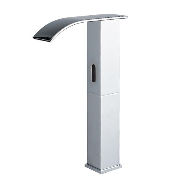 slavina za sudoperu bez dodira - sa senzorom / vrhunskim dizajnom, crne slobodno stojeće ruke, jedan slavine / mesing za rupe