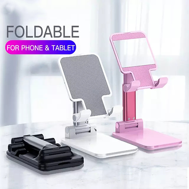 Foldable Metal Desktop Tablet Holder Table Cell Extend Support Desk Mobile Phone Live Holder Mirror Stand For iPhone iPad