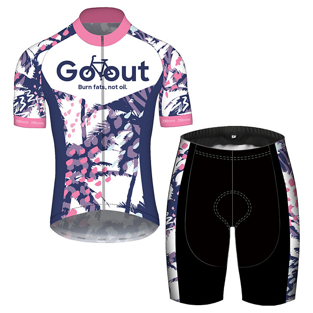 21Grams Men's Short Sleeve Cycling Jersey with Shorts Spandex Polyester Purple Oktoberfest Beer Bike Clothing Suit UV Resistant Breathable Quick Dry Sweat-wicking Sports Oktoberfest Beer Mountain