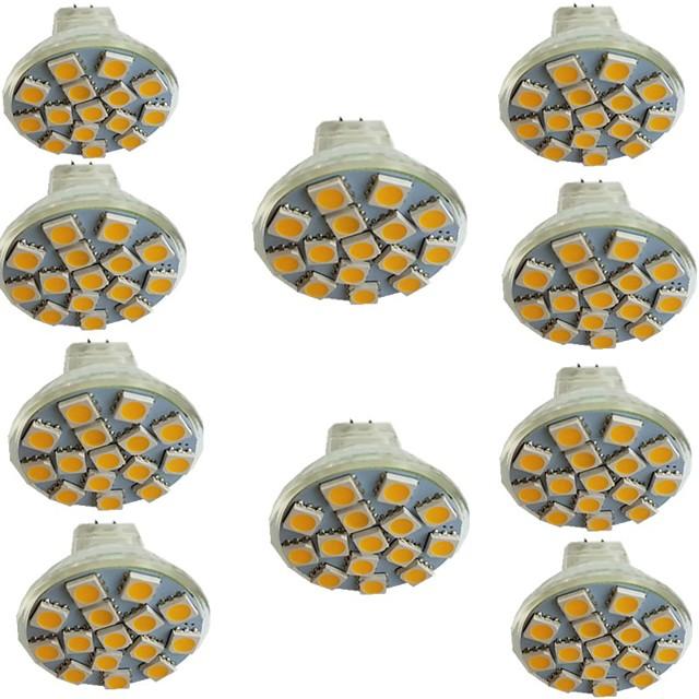10pcs 3 W LED Spotlight 300 lm MR11 15 LED Beads SMD 5050 Warm White Cold White Natural White 9-30 V