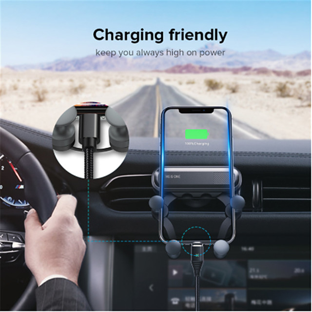 gravity car holder for phone in car air vent clips mount no magnetisk mobiltelefon holder gps stativ for iphone 11 pro samsung