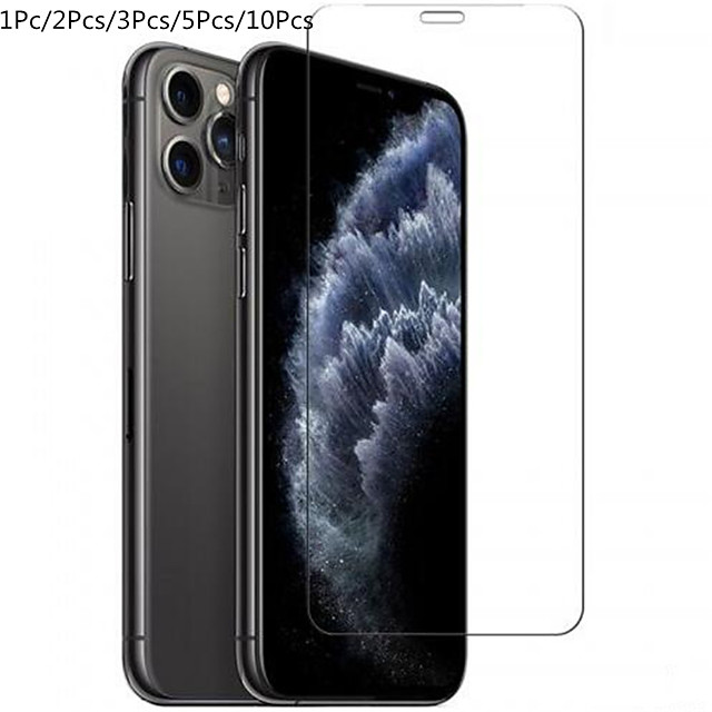 1PC/2PC/3PC/5PC/10PC Screen Protector for iphone 11 Pro Max XS XR 6s 7 8 Plus 5s SE 2 Full Cover protective Glass on iphone X 11 Pro Max Tempered Glass