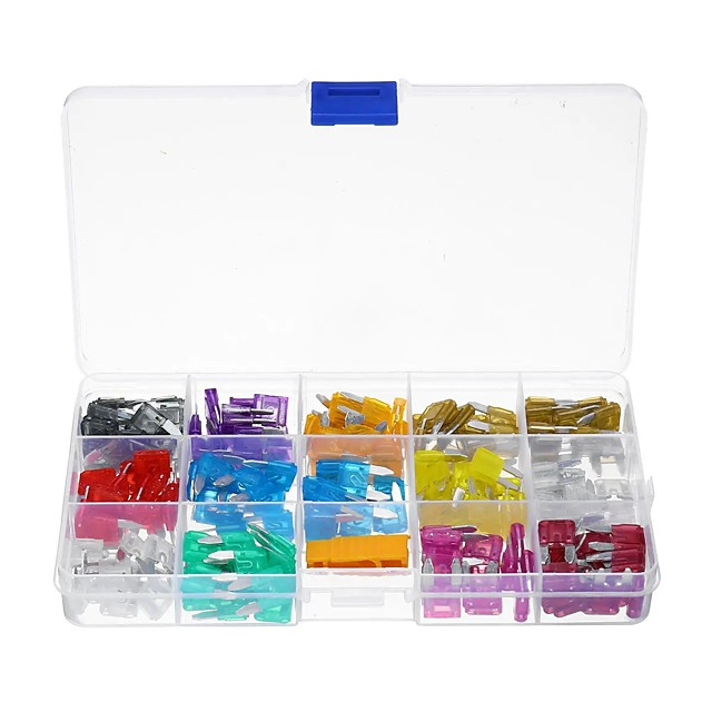 180Pcs Small Blade Fuse Set Kit 2A 5A 10A 15A 20A 25A 30A 40A APM With Box