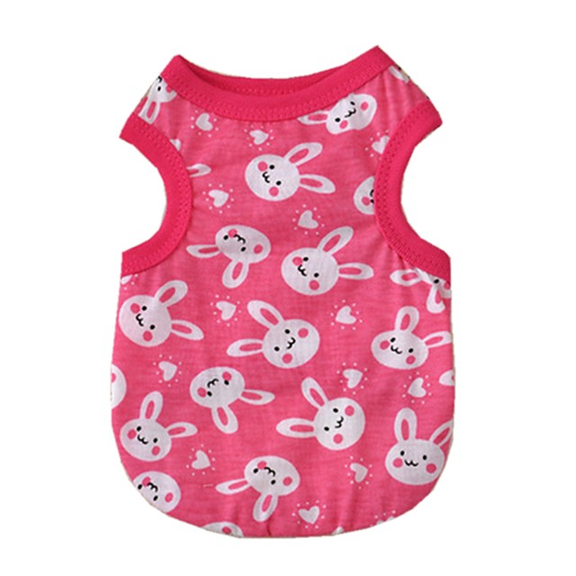 Cat Dog Shirt / T-Shirt Letter & Number Dog Clothes Breathable Red Costume Cotton XS S M L