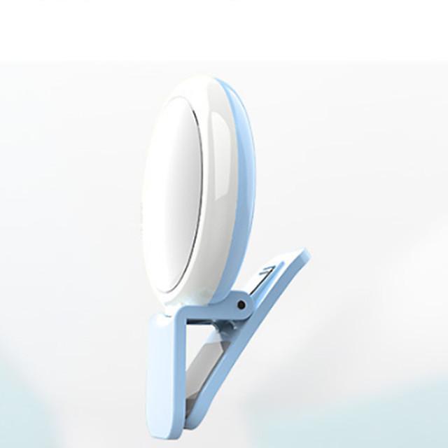 Round Selfie Ring Light Night Light Rechargeable Selfie Light Touch Smart Switch USB 1 set