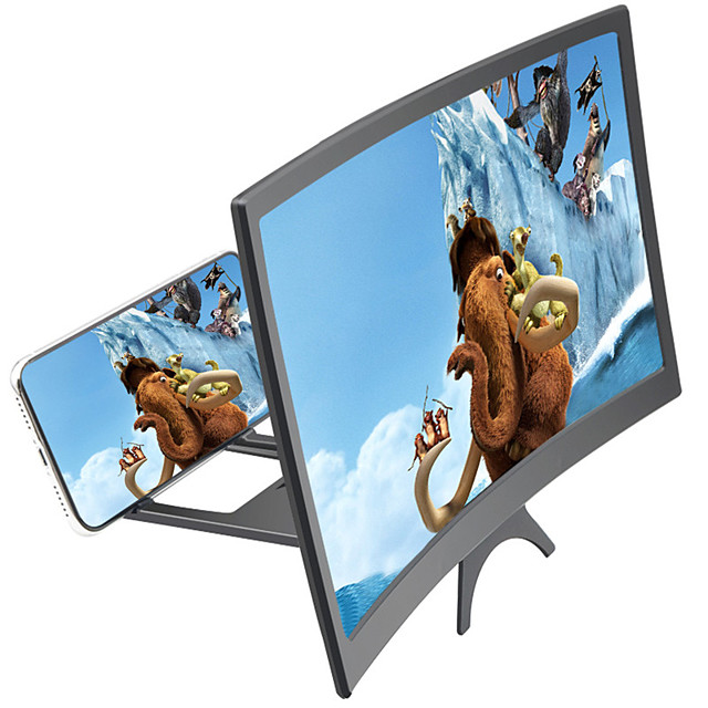 Mobile Phone Screen Magnifier Bracket Enlarge Stand Eyes Protection Folding 3D Video Screen Display Amplifier for iPhone Samsung Huawei Xiaomi