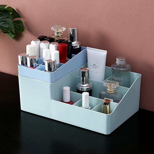Multiple Grid Makeup Organizer Storage Box lipstick lipstick Nail Drill polish organizer Cosmetic Jewelry Box Holder