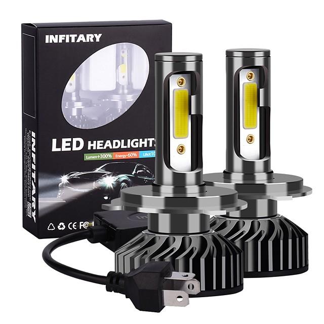 2pcs F2-COB Dual Beam LED Headlight H4 / H13 / 9004(HB1) / 9007(HB5) Motorcycle / Car Light Bulbs 72W 6500K LED Headlamps