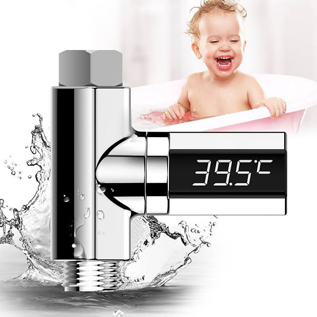Household LED Display Water Temperature Gauge Home Water Shower Baby Care Monitor Self-Generating Electricity Water Dropship