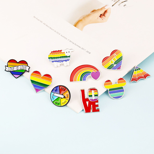 Brooch Rainbow Alloy For LGBT Pride Cosplay Men's Women's Costume Jewelry Fashion Jewelry
